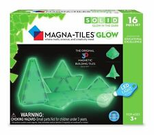 Magna-Tiles 16-Piece Glow in The Dark LED Creativity Educational STEM Approved