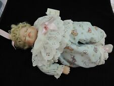 """Porcelain Doll Easter 1993 World Gallery Dolls And Collectibles""""Little Lamb"""""""