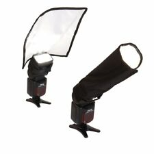 Foldable Flash Diffuser Reflector Snoot Softbox For Yongnuo Canon Sliver White