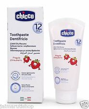 Chicco Baby Dentifricio Toothpaste Strawberry Flavour - 50ml 12 month+ child