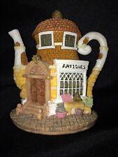 """Hometown Teapot Cottages """"Antiques""""- Miniature, Excellent Collectible!"""
