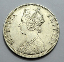 1901 C I C UNC/MS CALCUTTA BRITISH INDIA VICTORIA EMPRESS ONE RUPEE SILVER COIN