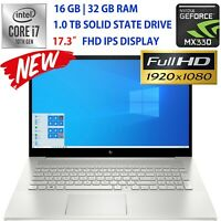 "NEW HP ENVY 17.3"" FHD- CORE i7 -Customize upto 32GB RAM- 1 TB SSD- NVIDIA GRAPHS"