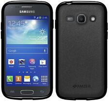 Amzer Exclusive Pudding Matte TPU Case Cover For Galaxy Ace 3 GT-S7270 - Black