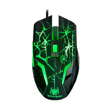 Ajazz 8D 2400DPI The Spider Man Green Led 6 Buttons Optical Usb Gaming Mouse UK