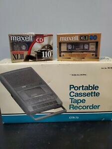 NIB Deadstock 1988 Realistic Portable Cassette Tape Recorder CTR-73  Radio Shack
