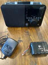 Logitech X-R0001 WiFi Squeezebox UE Smart Radio Black w/Battery Excellent