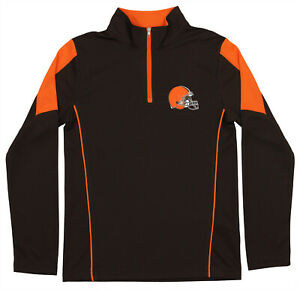 Outerstuff Youth NFL Cleveland Browns Lightweight 1/4 Zip Pullover