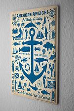 Maritime Decoration Tin Sign  Anchor Fish Mermaid wheel Decorative Wall Plate