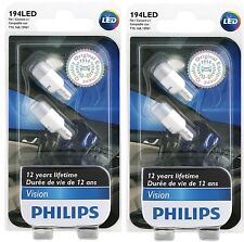 4 PHILIPS 194 LED White VISION 6000K 2886X Super Xenon DOOR GLOVE MIRROR LICENSE