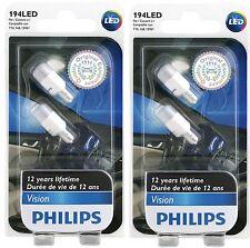 4 PHILIPS 194 LED White VISION 6000K 2886X Super Xenon DOOR GLOVE MIRROR LICENSE