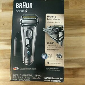 Braun Series 9 9290cc Mens Wet Dry Electric Shaver with Clean Station Never Used
