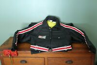 Vintage Champion Spark Plug Snow Snowmobile Winter Suit Men's Medium Black Cool