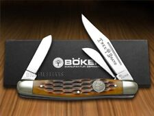 BOKER TREE BRAND Jigged Brown Bone Stockman Pocket Knives Knife