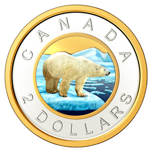 2020 Canada Classic design Toonie two dollar coloured from proof set