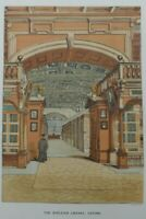 Antique lithograph print - The Bodleian library - Oxford - Leighton Bros