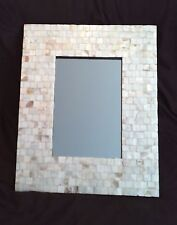 Mother Of Pearl Shell Rectangle Wall Mirror