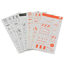 Newly DIY Calendar Photo 6 Sheets Paper Sticker Scrapbook Diary Planner Decor