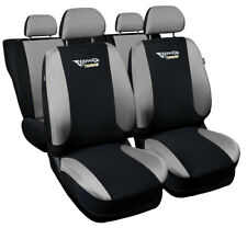 Seat covers fit Audi A6 C4 C5 C6 C7 FULL SET black/silver sport style