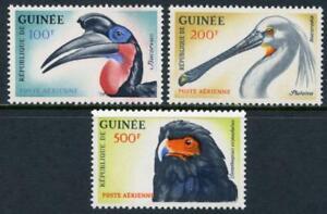 Guinea: 1962 Birds Airmails (C41-C43) MNH