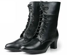 Japanese Traditional Women Kimono Hakama Boots Shoes JP24.5cm Black