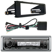 New Harley Touring Marine Kenwood KMR-M318BT Bluetooth Radio Stereo Adapter Kit
