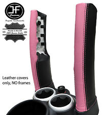 BLACK & PINK LEATHER 2X DOWN TUBES COVERS FITS BMW MINI COPPER S R50 R53 01-06