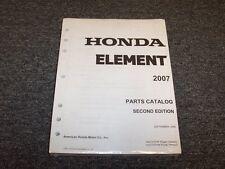 2007 Honda Element Crossover Factory Parts Catalog Manual LX EX SC 2.4L I4