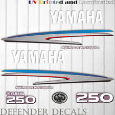 Yamaha 250HP HPDI outboard engine decal sticker Graphic kit reproduction 250 HP