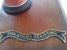 Vintage Victorian Sign Safe Plaque Original Plate