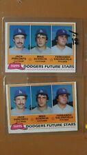 Fernando Valenzuela (2) 1981 Topps #302 Dodgers Future Stars    Rookie cards