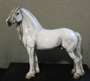 Cheval Ceramics Classic Collection Friesian in White/Gray.