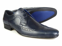 Red Tape Louth Navy Leather Mens Brogue Formal Shoes Free UK P&P RRP £45!