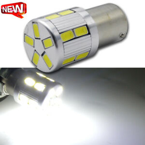 2pcs White Rear Signal Light BAU15S 7507 PY21W 17 5630SMD Motor LED Bulb AC6V
