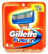 GILLETTE FUSION  RAZOR BLADES, 4 Cartridges, 100%AUTHENTIC, #003
