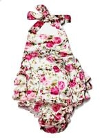 Baby Girl Floral Ruffle Romper Jumpsuit Sunsuit 18-24 Months Pink