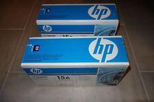 Lot of 2 HP Laserjet 15A Black Toner Cartridge New, Sealed C7115A Genuine