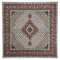 Hand-Knotted Fine Oriental Wool & Silk Square Handmade Rug 5.11X 6.0 Brral-3981