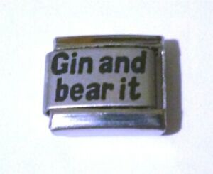 Italian Charms  L59 Gin and bear it Fits Classic Size Bracelet