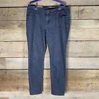 Ann Taylor loft womens size 14 jeans curvy skinny stretch dark wash blue