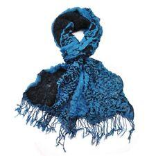 Bufanda de mujer de acrílico color principal azul