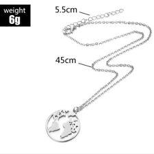 World Map Necklace Women Geometric Necklace Circle Necklaces & Pendants