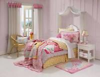 New Freckles Rose Princess Pink 100% Cotton SINGLE Size Quilt Doona Cover Set