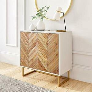 Nathan James Enloe Modern Storage, Free Standing Accent Cabinet with Doors