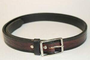 Premium Hand Made Mens 42 (40 - 45) Brown & Black Leather Heavy Duty Belt