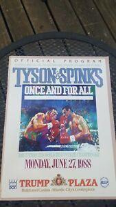 Original Mike Tyson + Michael Spinks Boxing Program. 1988. Trump Plaza. Nice.