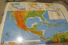 """Nystrom Laminated 2 Sided Map of Middle & South America 22"""" X 17"""" Homeschool"""
