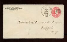 US Mid-Atlantic Stationery Advertising Cover (Minetto Shade Cloth) 1900 Minetto