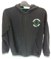 FRED PERRY Boys Hoodie Jacket Youth M Medium Black Cotton