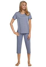 Schiesser  Schlafanzug Pyjama kurz Shorty  SK330 Damen Seidensticker